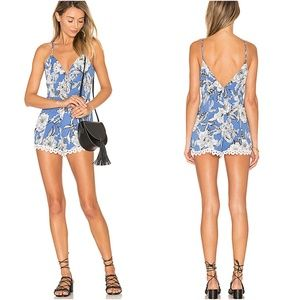 NWT Lovers + Friends Sapphire Floral Romper M
